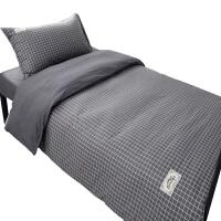 纯棉宿舍三件套床单学生单人12米被套床上用品09全棉三套件15 悠闲 0.9m床(被套155*205cm 床单160*
