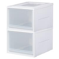 收纳抽屉柜子塑料收纳箱抽屉式储物柜爱丽丝衣柜整理柜多层 大号 两个装 1套
