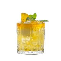 欧式复古浮雕鸡尾酒杯 太阳花纹 玻璃杯长饮杯科林杯创意 果汁杯