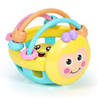 玩具小孩宝宝响铃益智初生手拿手摇早教婴儿摇铃软胶哑铃新生儿 毛毛虫摇铃一个