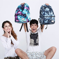 女包双肩包潮防水耐磨中学生星空书包电脑旅行包