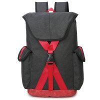 书包 双肩包男时尚休闲旅行背包韩版中学生书包女大容量电脑背包