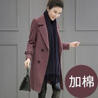呢子大衣女中长款秋冬装新款女装韩版修身百搭加棉毛呢外套女