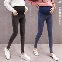 孕妇裤子孕妇裤春秋薄款弹力显瘦长裤紧身托腹高腰打底裤