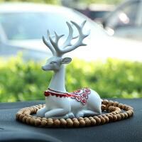 汽车车内饰品摆件装饰 一路平安鹿创意个性漂亮保平安车载用品*