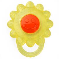 贝牙胶婴儿注水磨牙器玩具 宝宝磨牙棒口腔护理训练器咬咬牙胶 婴儿入水牙胶 太阳花状