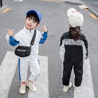 韩版休闲时尚运动服童装小女孩衣服2019新款两件套女童秋装套装