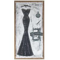 美式欧式复古服装店人物模特海报橱窗背景墙咖啡厅墙画装饰画壁画 80*40cm
