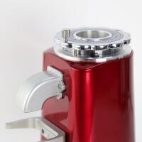 电动磨豆机 家用小型商用专业咖啡磨粉机 19档粗细可调节 酒红色