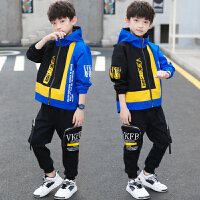 2019年春秋季新款童装中大童男孩洋气运动套装男童秋装套装
