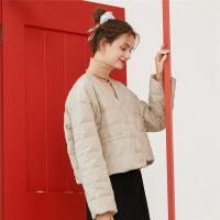【2件3折】ONE MORE2019冬装新款V领羽绒服轻薄羽绒服短款小个子外套女装