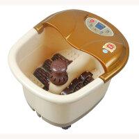 康豪 电动按摩足浴盆 KH-8833 六个电动按摩轮 足浴器 洗脚盆 一键启动 冲浪加热 温度调节 提手 移动轮