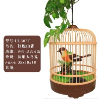 西骑士儿童玩具3-6周岁7仿真会叫会动电动声控感应美丽小鸟笼鹦鹉