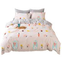 床品四件套卡通小萝卜清新1.5m床1.8米被套床单四件套定制