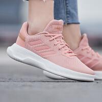 Adidas阿迪达斯女鞋2019春季新款樱花粉运动鞋休闲鞋F36597
