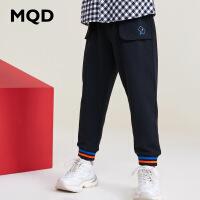 MQD童装男童工装长裤2019秋季新款中大童洋气运动裤儿童休闲潮
