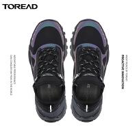 【商�鐾�款,限�r4.5折】探路者徒步鞋 秋冬新款�敉馇�H防滑VIBRAM徒步鞋TFAI91052