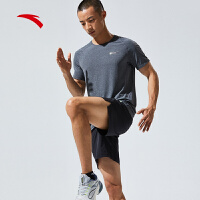 【到手价135】安踏跑步短袖男2021夏季新款冰丝T恤训练健身运动体恤男152125110