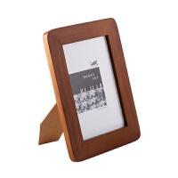木制摆台相框创意复古7寸照片相架欧式个性5寸宝宝相片画框抖音 如图