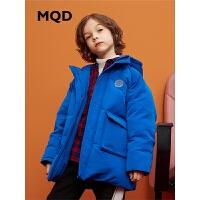MQD童装男童中长款工装羽绒服2019冬新款儿童羽绒服