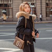 短款外套女冬加厚小个子棉衣韩版新款棉袄矮冬装羽绒潮流 黑色 颜色