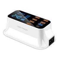 多口充电头苹果无线充电器安卓手机平板iPad通用多接口USB插头QC3.0闪充快速多功能PD快充工作室多孔智能插座