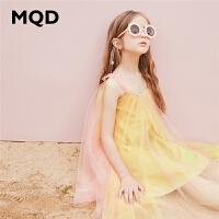 【2件3折券后价:107】MQD童装女童连衣裙2020夏季新款韩版印花网纱吊带裙洋气儿童裙子