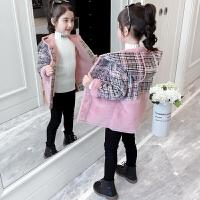 儿童女童中长款加绒加厚冬装外套2019新款韩版中大童洋气呢子大衣
