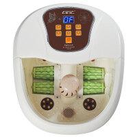 朗悦 LY-821电动按摩足浴盆全自动按摩加热洗脚盆电动足浴器养生泡脚盆 冲浪加热 四轮电动按摩 气波 定时 数显 移动轮 外排水