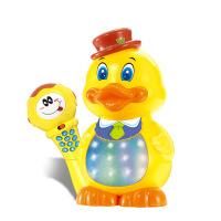 高盛 鸭鸭好声音无线麦克风儿歌卡拉OK唱歌话筒带扩音可充电大黄鸭儿童早教益智玩具