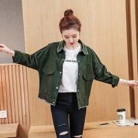 小个子休闲长袖夹克短牛仔外套女士秋冬季2018新款韩版百穿搭宽松