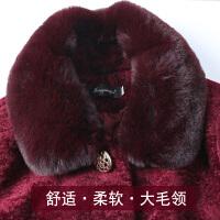 中老年羊剪绒外套女40-50-60岁中长款妈妈装冬装毛呢中年皮草大衣
