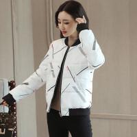 2018冬季新款女装冬装棉衣服外套韩版时尚轻薄短款羽绒小棉袄 黑白两面穿