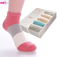 [5双装]内慧 短袜薄 夏季 女士纯棉袜子 可爱船袜子 女袜 5010