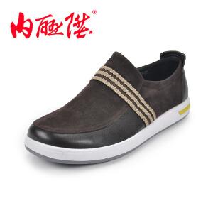 内联升 男鞋 时尚休闲单鞋 老北京布鞋 6176c