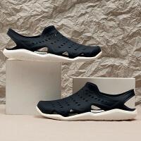 Crocs/卡骆驰男鞋新款激浪轻便休闲透气涉水沙滩凉鞋洞洞鞋203963-462