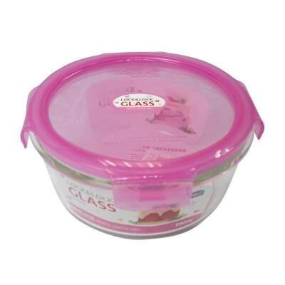乐扣玻璃饭盒kitty密封保鲜盒950ml LLG861冰箱收纳盒微波炉饭盒 粉红色