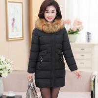 妈妈装冬季中长款羽绒40岁50中老年加厚保暖棉衣中年妇女棉袄