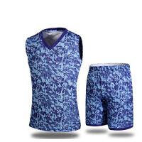 印号团购 运动比赛训练服背心 迷彩篮球服定制 套装男夏球衣