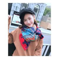 韩国圣诞围巾女冬季韩版百搭长款加厚冬天围脖日系学生双面绒披肩