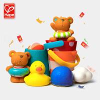 发条游泳泰迪宝宝洗澡玩具漂浮儿童男女孩戏水淋浴套装