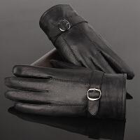 皮手套男真皮时尚保暖羊皮真皮手套男士冬季新款韩版骑行手套