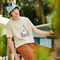 森马短袖T恤男装2021夏新款打底针织衫韩版潮流日系个性图案上衣