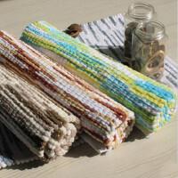 美式高档手工编织彩棉条纹地垫 40*60 5色可选