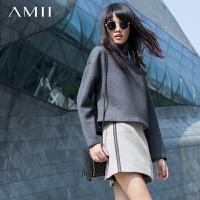 【AMII 超级品牌日】AMII[极简主义]秋冬通勤百搭包臀裙双面毛呢短裙多色
