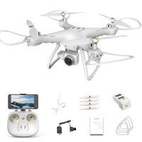 有摄像头的无人机拍照飞机专业抗风跟随GPS航拍高清遥控飞机充电动四轴飞行器定位 GPS-定位/800W高清
