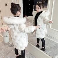 2019新款女孩中长款洋气棉衣儿童加厚棉袄女童秋冬装韩版外套