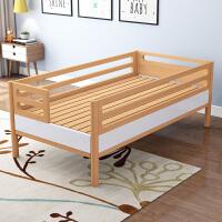 【品牌特惠】床带护栏实木床小孩拼接床婴儿床加宽床定制床单人床 其他 不带抽屉