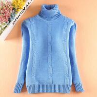 女孩洋气打底衫儿童装冬8-15岁女童加绒加厚毛衣中大童高领针织衫