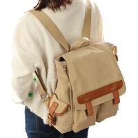 学院风旅行包 中学生双肩包潮流 韩版背包帆布书包 时尚女包